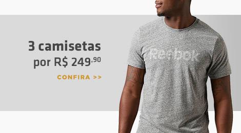 3 camisetas por R$249,90