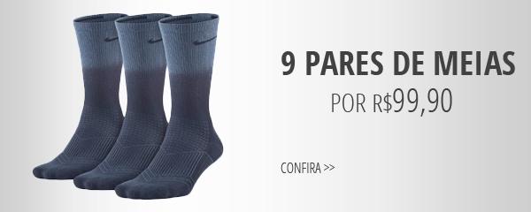 9 pares meias