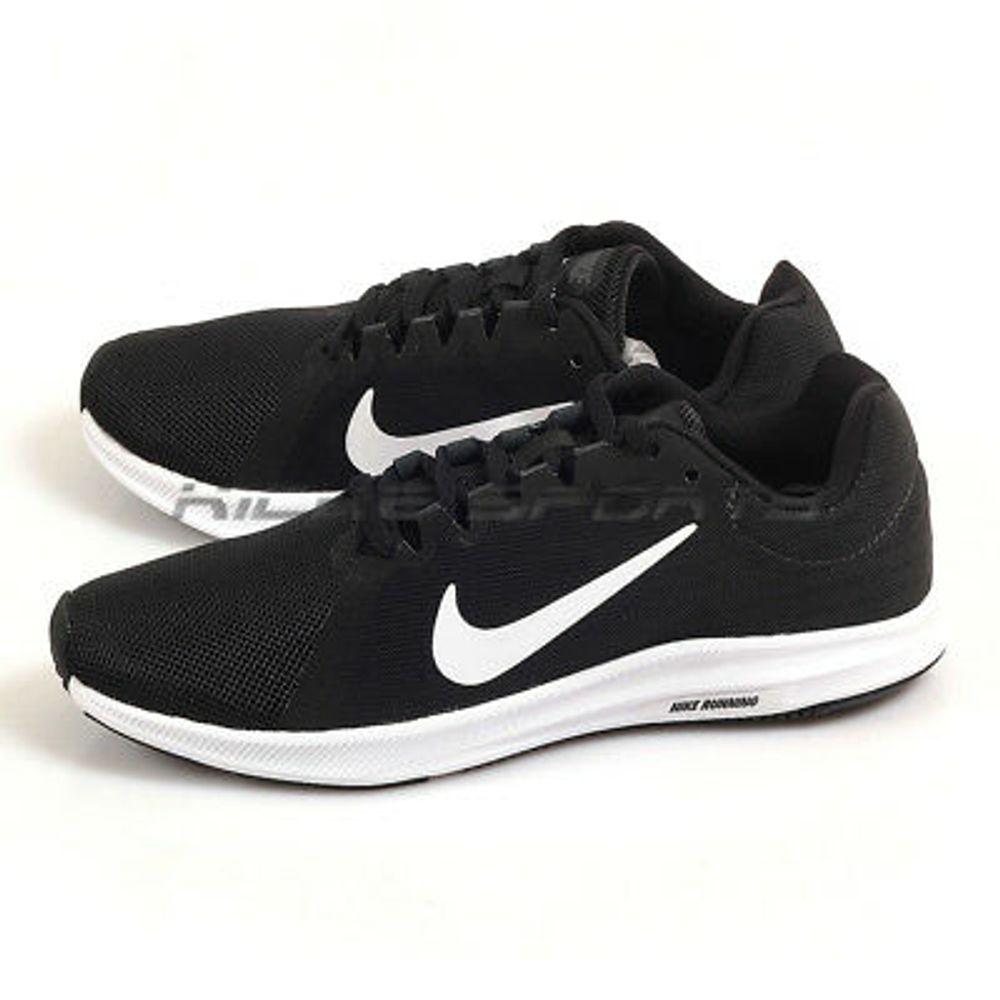 Tenis Nike Downshifter 9 Feminino Aq7486 001 Pretobranco
